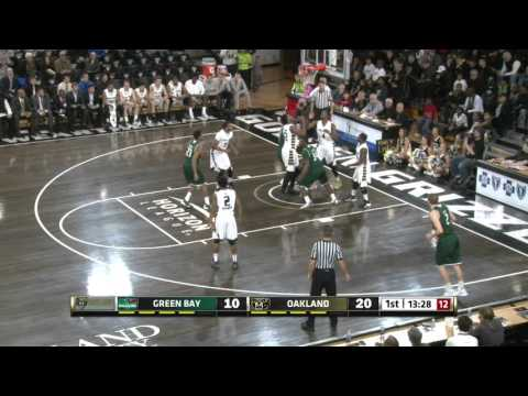 Green Bay at Oakland: Horizon League Men's Basketball Highlights (Feb. 13, 2016)