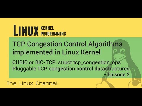 269 Linux Kernel TCP Congestion Control CUBIC BIC-TCP Pluggable congestion control datastructure Ep2