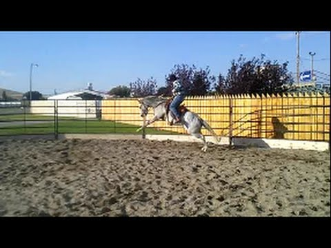 Horse tries to buck me off!!.....SLOW MOTION too!