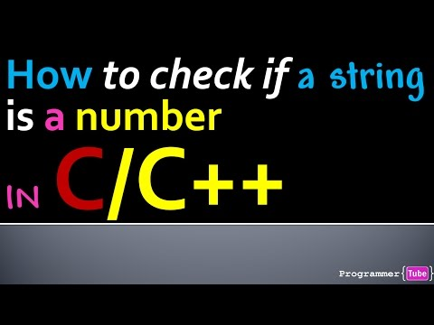 How to check if a string is a valid number or not in C/C++