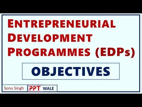 ENTREPRENEURIAL DEVELOPMENT PROGRAMMES (EDP) | Concept | Objectives | BBA/MBA/Bcom | ppt