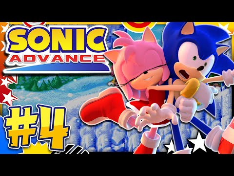 Sonic Advance GBA - Part 4 Ice Mountain Zone w/Amy