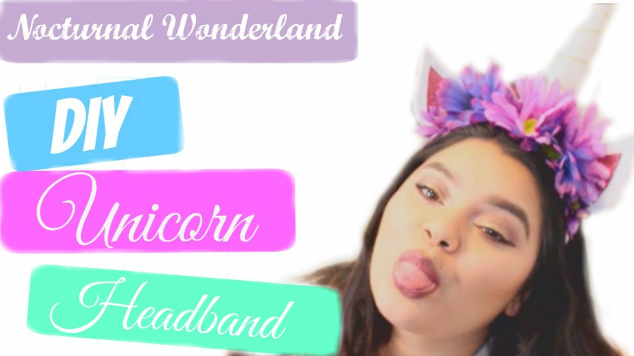 DIY Unicorn Headband l iamcarolinaa - YouTube 192052a4ca3