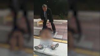 White Devil drags Passenger  suffering seizures off train in Long Beach