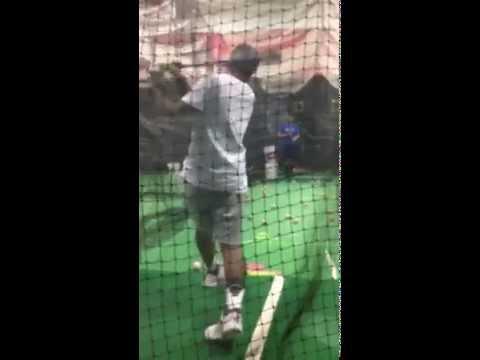 Wendell Davis Batting Practice