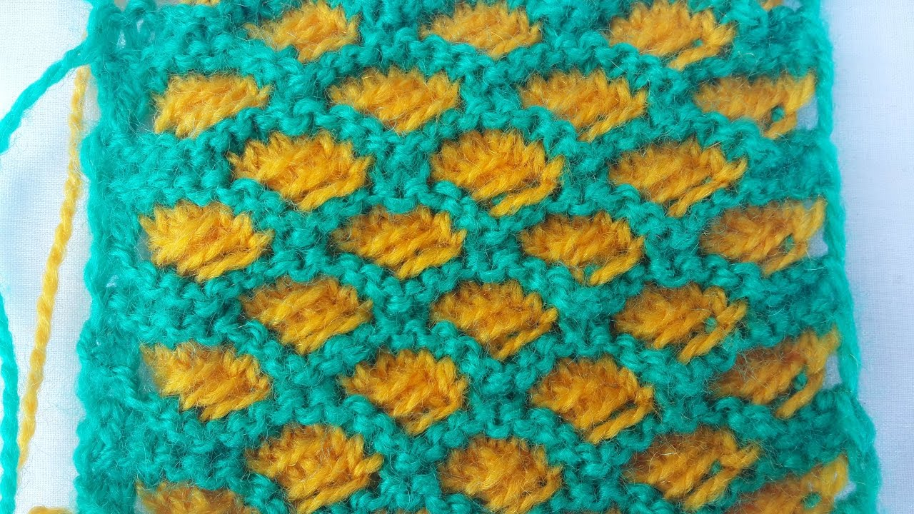 Double Colour Cross Stitch Pattern | Stitch Design | Knitting ...