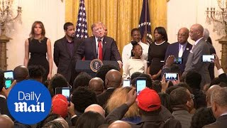 Trump commemorates Black History Month at the White House
