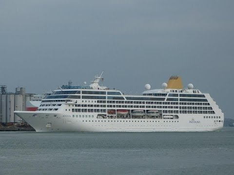 """Nagoya Express"" & ""Adonia"" departing from Southampton - 03/04/2013"