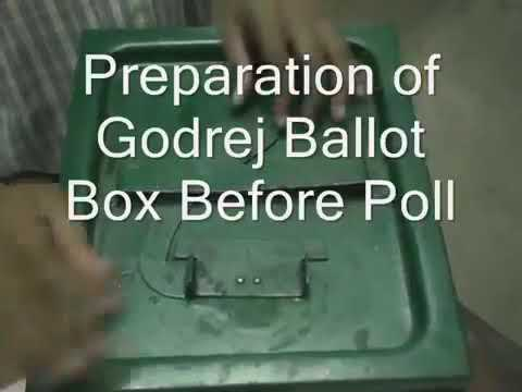 280. Sealing of Godrej Ballot Box before poll, Panchayat Vote