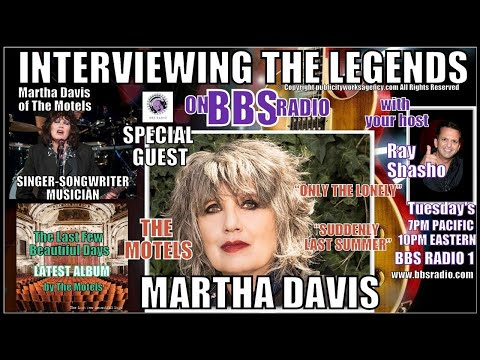 MARTHA DAVIS LEGENDARY 'MOTELS' LEAD SINGER AND SONGWRITER EXCLUSIVE!