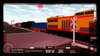 Railroad crossing! Jailbreak train!! Roblox