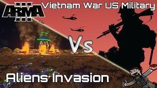 ARMA 3 - Custom Battles (Vietnam War US Military) vs (Alien Invasion)