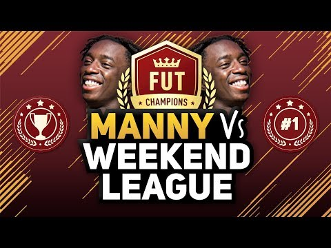 "MANNY VS THE WEEKEND LEAGUE #1 ""FUT CHAMPS IS STRESSFUL!"""