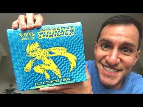 Opening NEW Pokemon Cards LOST THUNDER ELITE TRAINER BOX!