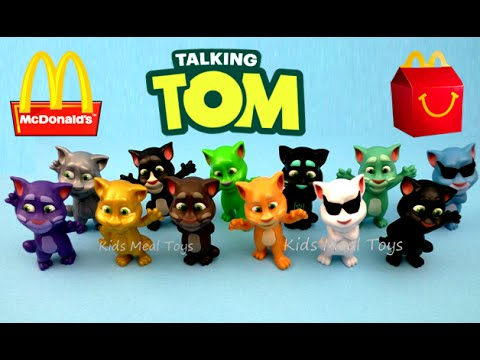 2016 Mcdonald S Talking Tom Complete Set Of 12 Happy Meal Kids Toys