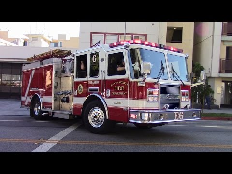Santa Monica Fire Dept. Engine 6 Responding
