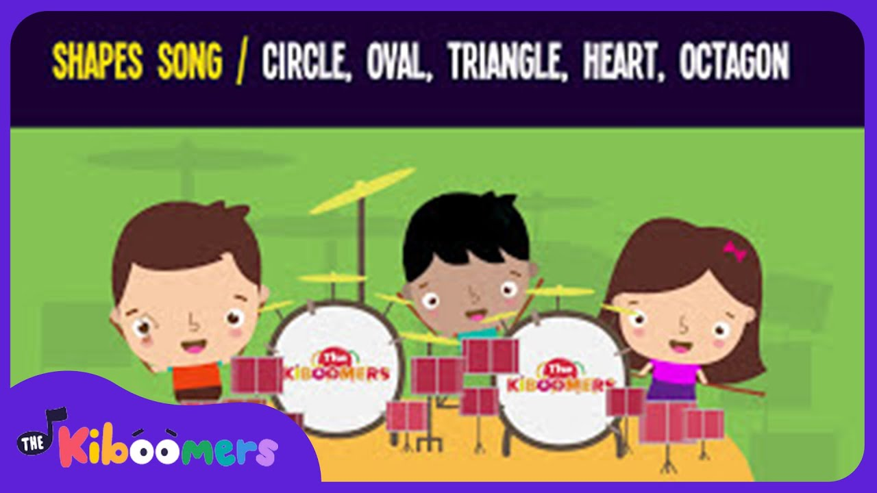 Shapes Song for Kids | Circle Oval Triangle Heart Octagon | The Kiboomers