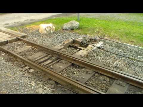 Crossing trains at Brynglas