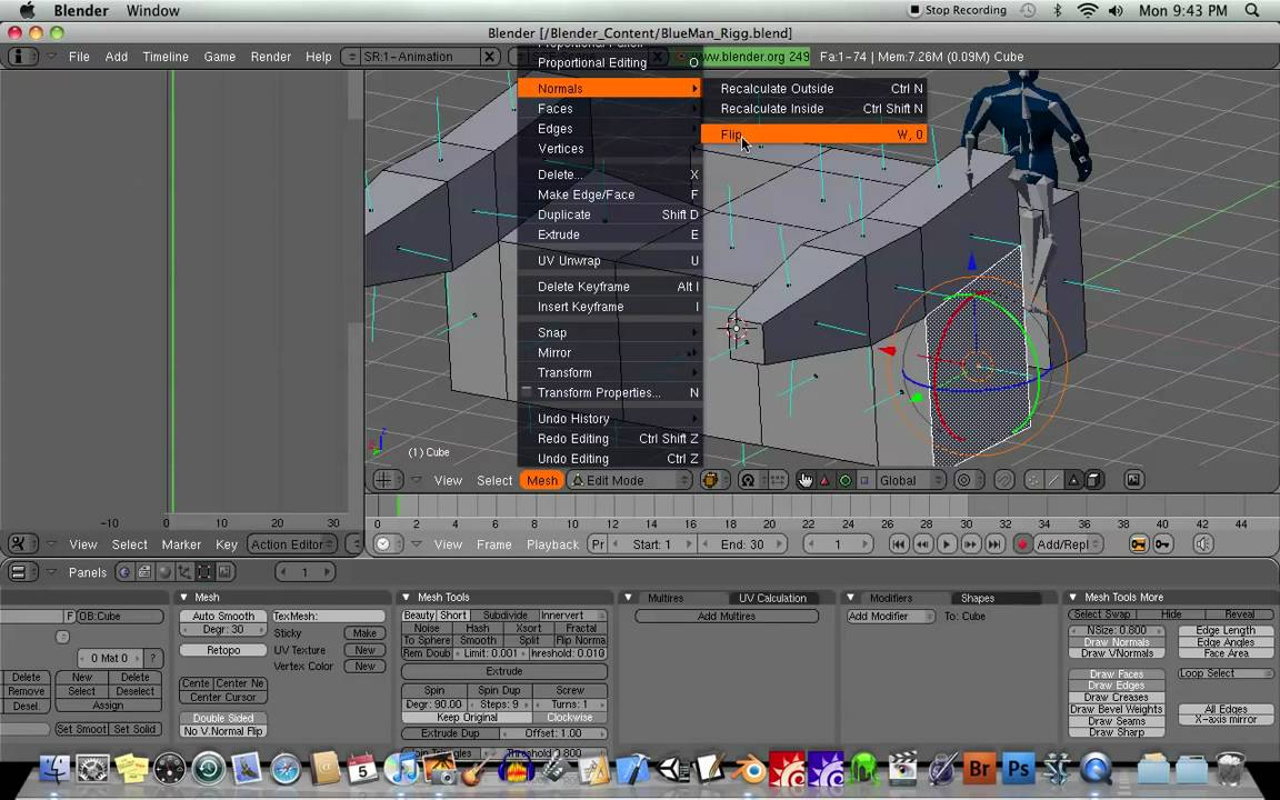 how to add submeshes blender 2.49