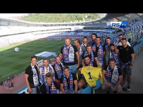 Jugadores del Biarritz Olympique en Anoeta 22/08/2016