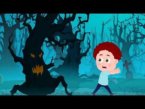 страшные леса | Хэллоуин рифмы | детские песни | Scary Rhymes For Kids | Scary Woods Behind My House