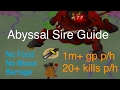 Abyssal Sire Guide - OSRS -  [No Food, No Blood Barrage] 20+ Kills Per Hour / 1m Gp Per Hour