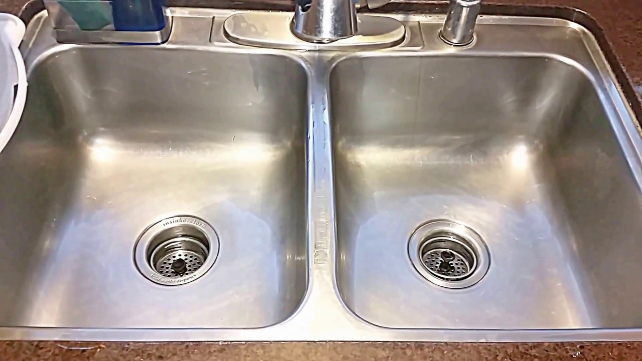 cleaning kitchen sink with baking soda clean stainless steel sink with hydrogen peroxide amp baking 9421