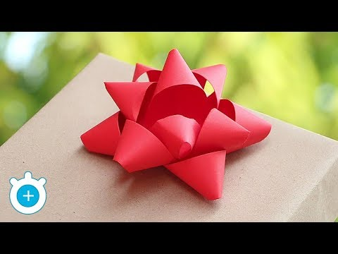 DIY. How to Make Paper Gift Bow - Easy