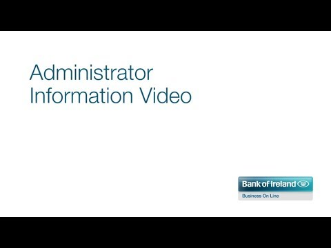 Bank of Ireland Business On Line Administrator Information