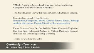 VMock Pivoting to Succeed and Scale in a Technology Startup Company Case Study Solution & Analysis