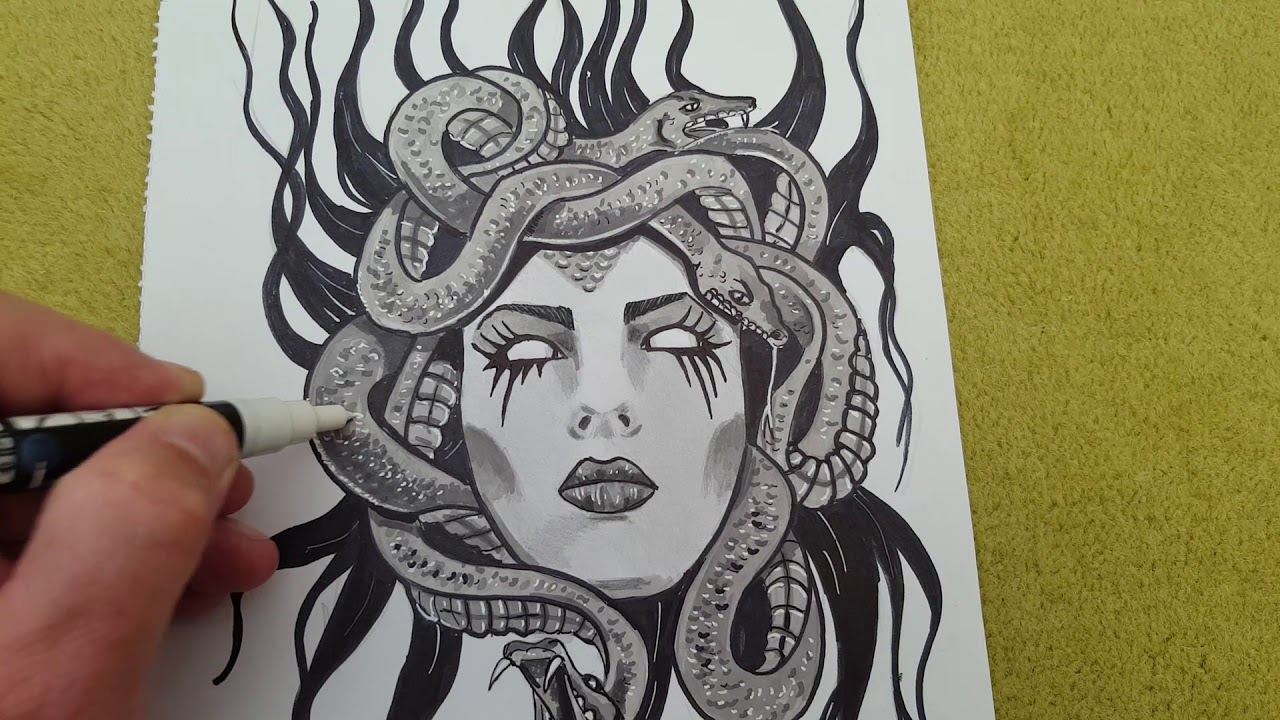 Finished New Medusa Drawing Youtube Explore & discover the best and the most inspiring art & drawings ideas & trends from all around the world. finished new medusa drawing youtube
