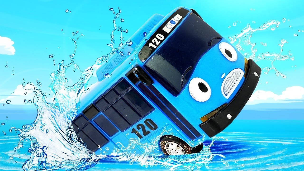 Tayo the bus and cars play games - Toddler Learning videos.