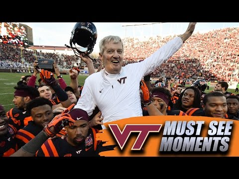 Virginia Tech's Frank Beamer Carried Off After Final Home Game