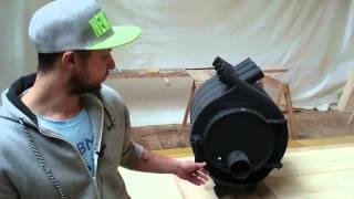 видео Печи Bullerian (Булерьян) с водяным контуром