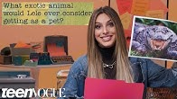 Lele Pons Guesses How 1,971 Fans Responded to a Survey About Her   Teen Vogue