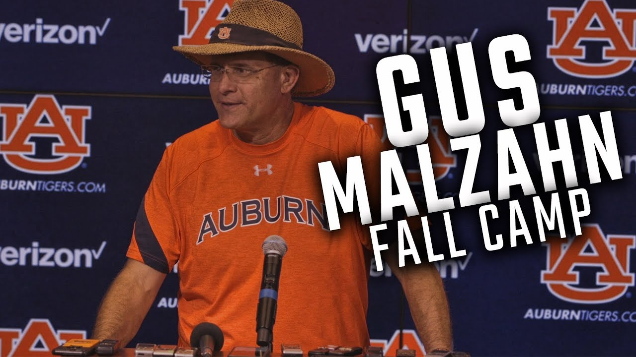 watch-gus-malzahn-address-the-media-following-the-first-day-of-fall-camp