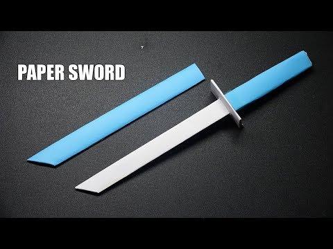 How to make a Paper Sword -  Easy Tutorial - DIY Ninja Sword