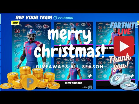 December Gifting has already begun! ZymaPro Live Fortnite Giveaways