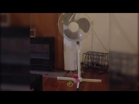 Cat Jumps on Fan and Crashes  || HiCat Fail