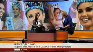 BBC World TV: Miss World talks about controversies and flying the flag for the Philippines