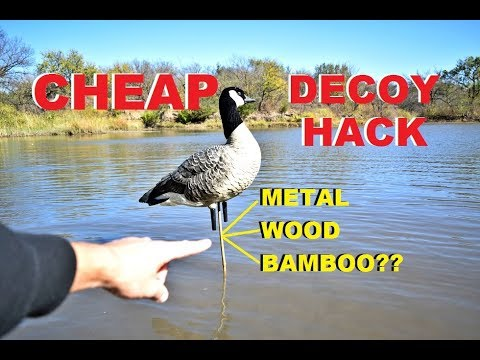 CHEAP Homemade LONG STAKES for Full Body Decoys Over WATER