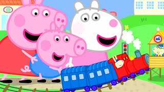 Kids TV and Stories   Giant Peppa Pig and Suzy Sheep Visit Tiny Land   Peppa Pig Full Episodes