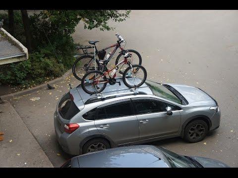 Велокрепление и перекладины на рейлинги своими руками. Cycle carriers and the crossbar.