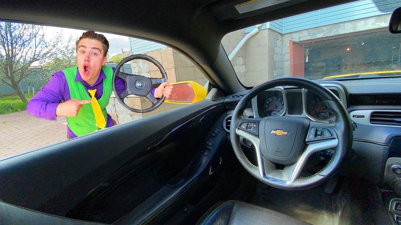 Mr. Joe tore Off Steering Wheel & TURNED in Small Steering Wheel VS Red Man on Camaro 13+