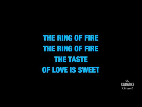 "Ring Of Fire in the Style of ""Johnny Cash"" karaoke video with lyrics (no lead vocal)"