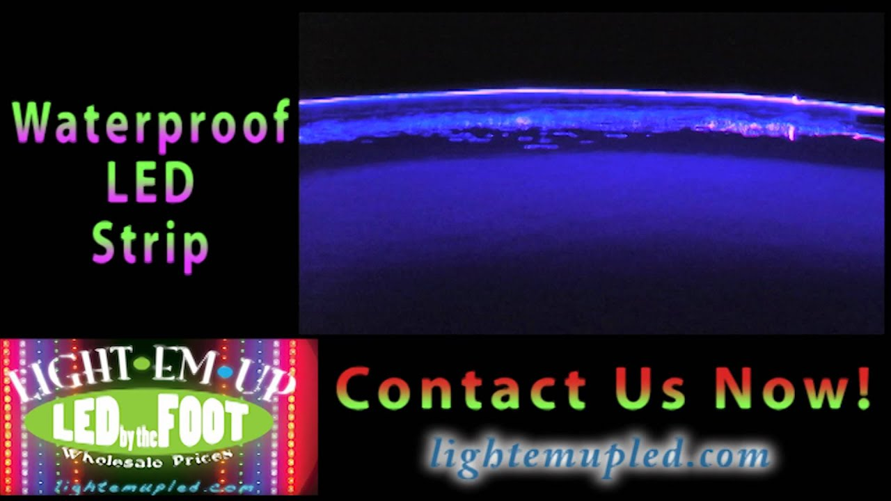 Waterproof pool led strip lighting night demo youtube mozeypictures Choice Image
