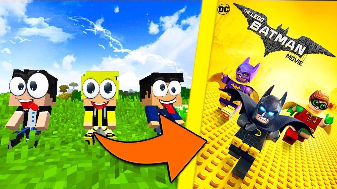 CRIANÇAS NO MUNDO DO LEGO BATMAN NO MINECRAFT - YouTube