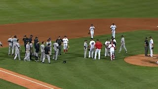 NYY@BOS: Bradley Jr. cuts down Headley, benches clear