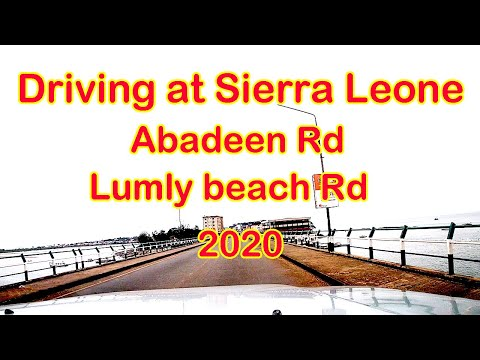 Sierra Leone Freetown virtual driving tour. From Abadeen Rd