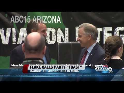 """Jeff Flake wants Progressive to win, says GOP's """"toast"""" if it's party of Moore and Trump"""